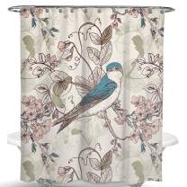 Dimaka Shower Curtain for Girls and Kids,Animal Print Decoration Design Decor Water Proof Resistant Eco Friendly Bathroom Fabric Shower Curtain (Bird)