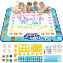KingsDragon Aqua Magic Mat,Extra Large 40x32 in Water Drawing Doodle Mat No Mess&Reusable Coloring Painting Writing Mat Kids Educational Toys Gifts for Toddler Boys Girls-w/Accessories&Pen Storage Box