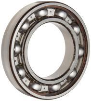 Timken 205K Ball Bearing, Open, No Snap Ring, Metric, 25 mm ID, 52 mm OD, 15 mm Width, Max RPM, 1760 lbs Static Load Capacity, 3600 lbs Dynamic Load Capacity