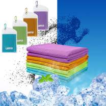 LUVNFUN 4 Pack Cooling Towels for Neck (40x12inch) Ice Towel, Soft Breathable Chilly Towel,Instant Cooling Neck Wrap,Keep Cool Towel for Yoga, Running, Workout,Fitness,Camping&Outdoor Sports
