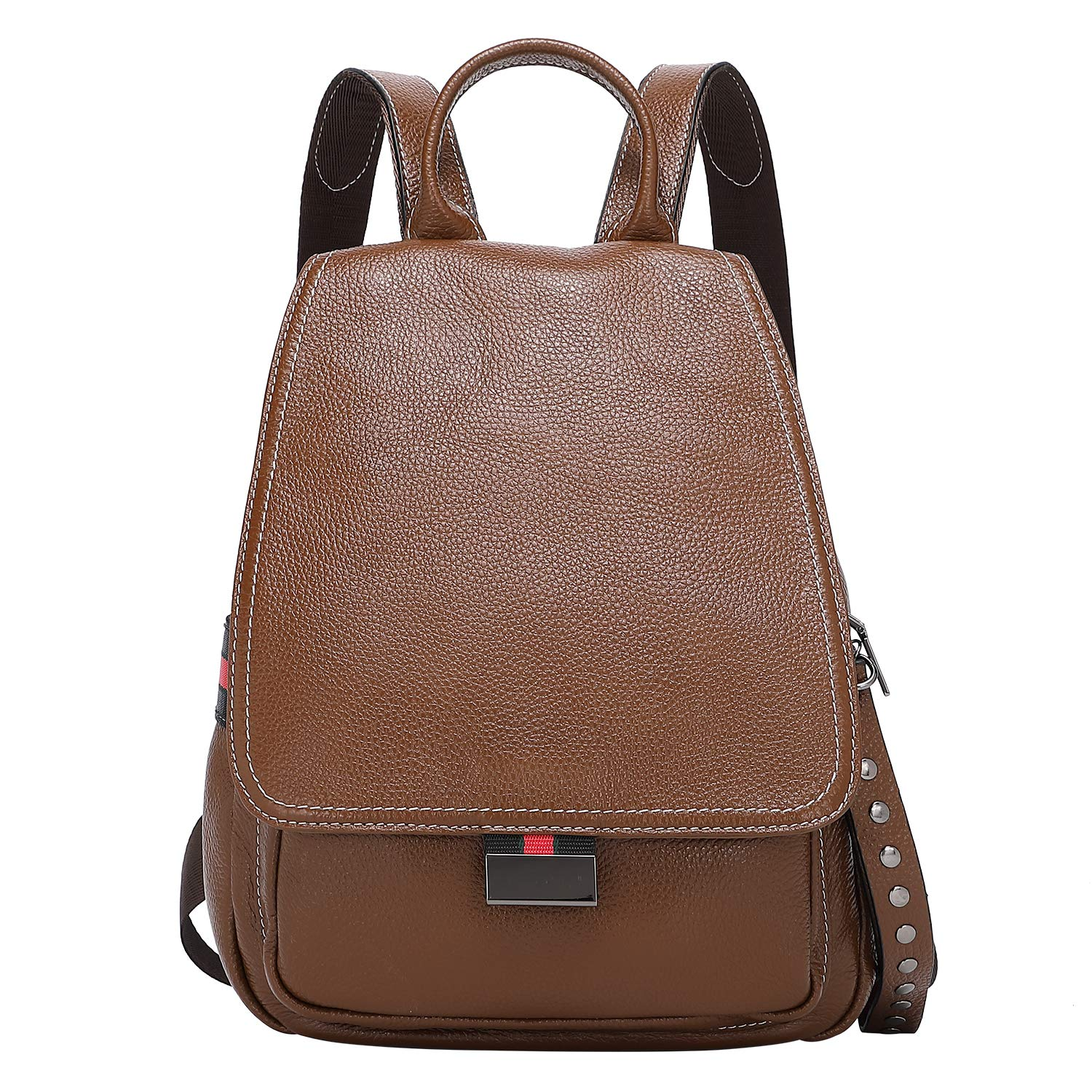 ALTOSY Fashion Leather Backpack Purse Leather College Bag Casual Travel Daypack