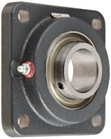 "Browning VF4S-127 Intermediate-Duty Flange Unit, 4 Bolt, Setscrew Lock, Regreasable, Contact and Flinger Seal, Cast Iron, Inch, 1-11/16"" Bore, 4-1/8"" Bolt Hole Spacing Width, 5-3/8"" Overall Width"