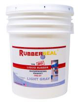 Rubberseal Liquid Rubber Waterproofing and Protective Coating - 5 Gallons, Light Gray