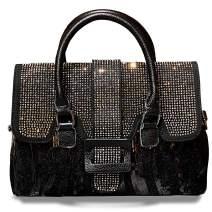 JINMANXUE Fashion Women Tote Bags Top Handle Satchel Handbags Leather Rhinestones Shouler Purse