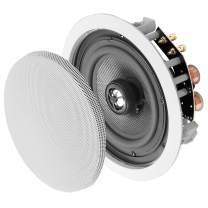"""OSD Audio 6.5"""" in-Ceiling Speaker Pair – 150W Stereo Speakers, Pivoting Tweeter, ICE640"""