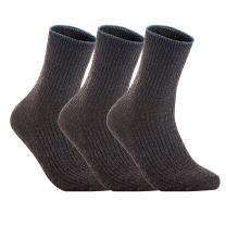 Lovely Annie Women's 3 Pairs Wool Blend Crew Socks HR1612 Casual Solid Size 6-9