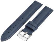 Hadley-Roma MS2044RA 180 18mm Leather Calfskin Black Watch Strap
