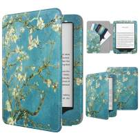 TiMOVO Case Compatible for All-New Kindle (10th Generation, 2019 Release), Smart Protective Cover Shell with Pocket Design Fits Amazon Kindle, Will Not Fit Kindle Paperwhite - Almond Blossom