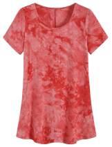 Weintee Women's Flowy T Shirt Swing Tunic Top for Leggings