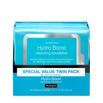 Neutrogena HydroBoost Facial Cleansing & Makeup Remover Wipes with Hyaluronic Acid, Hydrating Pre-Moistened Face Towelettes to Cleanse &Remove Dirt, Makeup & Impurities, Twin Pack, 25 ct