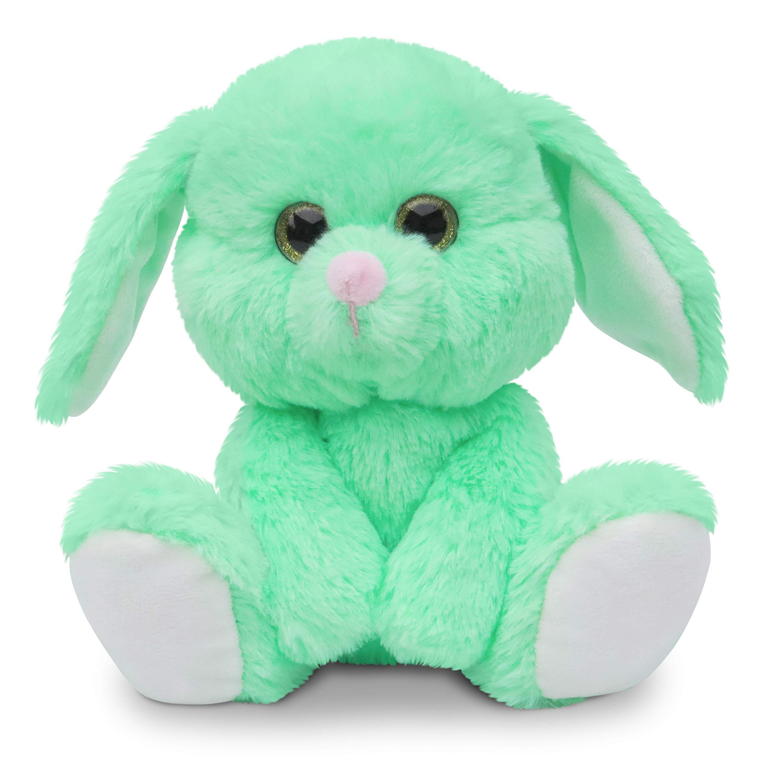 Fluffuns Bunny Stuffed Animals - Stuffed Bunny Plush Toys - 9 Inch Easter Bunny Rabbit Plushes (Green)