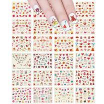 ALLYDREW 24 Sheets I Love You Hearts Nail Art Water Slide Nail Decal Sheet Set