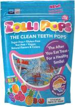 Zollipops Clean Teeth Lollipops AntiCavity Sugar Free Candy with Xylitol for a Healthy Smile Clean Teeth Great for Kids Diabetics and Keto Diet Flavors, Assorted, 5.2 Ounce