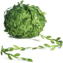 Naidiler 265Ft Artificial Vines, Leaf Ribbon Garland Leaves Trim Greek Wild Jungle Botanical Greenery, Fake Foliage Rattan for Baby Shower Party Wedding Home Wreaths & DIY Craft