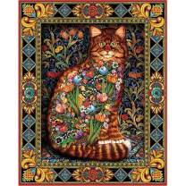 Large 5D Diamond Painting Kits for Adults Kids16x20Inch/40x50cm Canvas Size Full Drill Embroidery Dotz Kit Home Wall Art Decor by TOCARE, Magic Cat
