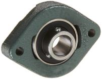 """NTN ASFD205-100 Light Duty Flange Bearing, 2 Bolts, Setscrew Lock, Non-Relubricatable, Contact Seals, Cast Iron, Inch, 1"""" Bore, 3"""" Bolt Hole Spacing Width, 2-25/32"""" Height, 1770 Static Load Capacity, 3150 Dynamic Load Capacity"""