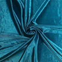 Stretch Velvet Fabric 60'' Wide by the Yard for Sewing Apparel Costumes Craft (10 YARD, Teal)