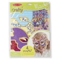 Melissa & Doug Simply Crafty Marvelous Masks Activity Kit (Makes 4 Masks, Great Gift for Girls and Boys - Best for 4, 5, 6, 7, 8 Year Olds and Up)
