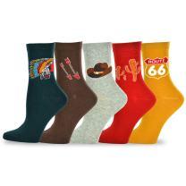 TeeHee Women's Casual Fun Novelty Cotton Crew Socks Value Pack