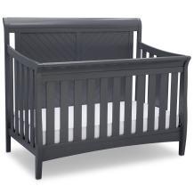 Delta Children Bennington Elite Sleigh 4-in-1 Convertible Crib, Charcoal Grey