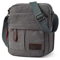 Koolertron Vintage Canvas Crossbody Shoulder Tablet Bag Lightweight Small Satchel Bag for Men & Women