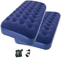 2-Piece of Zaltana Twin Size Air Mattress with DC air Pump (Battery not Included) Combo (AMNx2+APD)