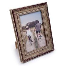 """Truu Design, Decorative Weathered, 4 x 6 inches, Beige Distressed Wooden Look Picture Frame, 4"""" x 6"""""""