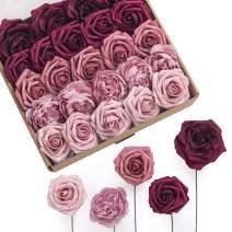 Ling's moment Artificial Flowers Combo Box Set Abundant Marsala for DIY Wedding Bouquets Centerpieces Arrangements Bridal Shower Party Home Decorations