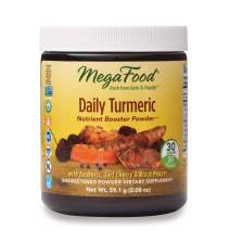 MegaFood, Daily Turmeric Nutrient Booster Powder, Post-Exercise Recovery Vegan, Unsweetened, 2.08 oz (30 Servings) (FFP)