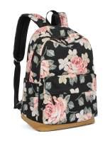 Leaper Vintage Floral School Backpack Girls Daypack Bookbag Travel Bag Black