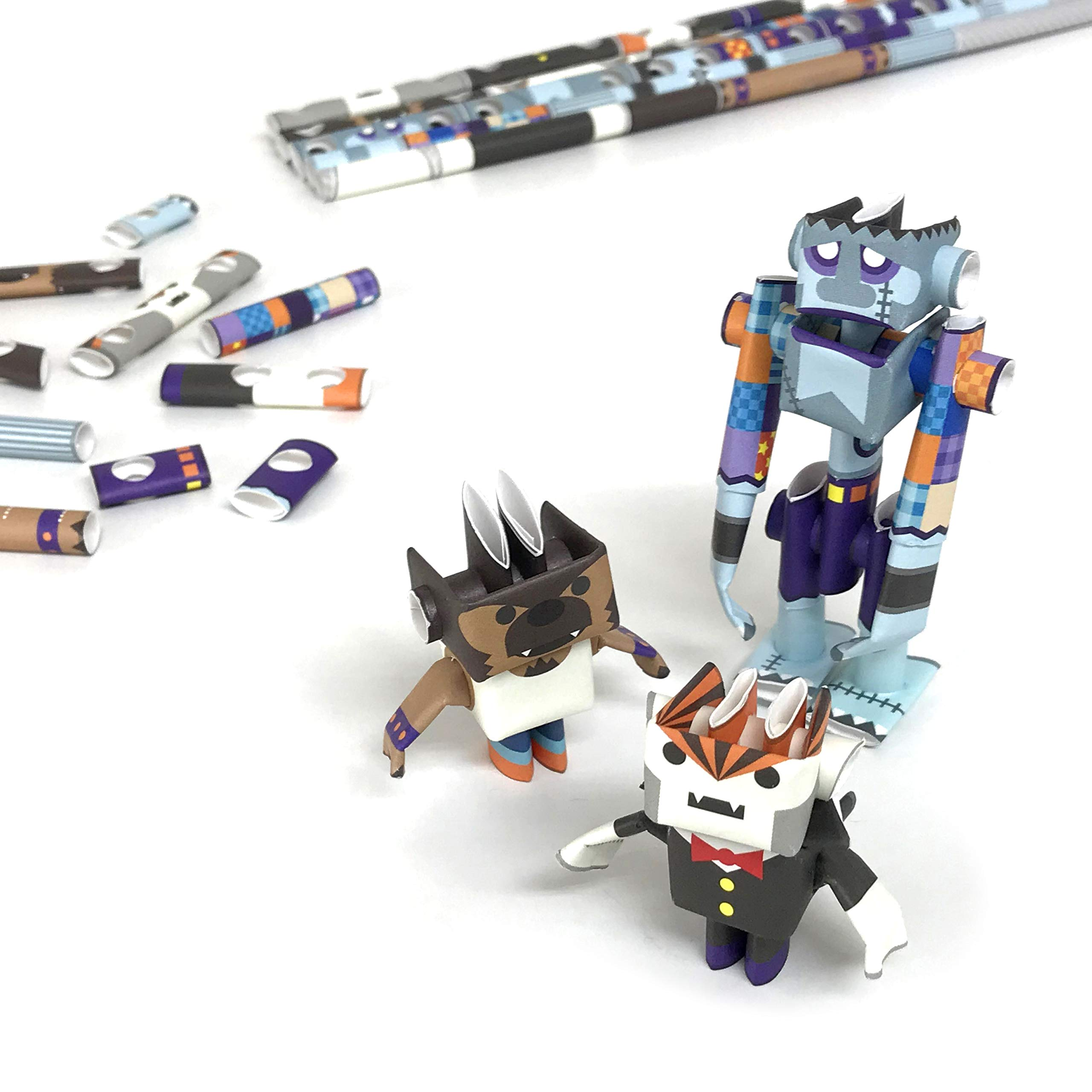 PIPEROID DIY Paper Craft Kit Dracky & Wolffy & Franky Costume Player - Japanese Arts and Craft Kit for Kids and Adults - Birthday Gift and Party Favor for 3D Puzzle and Origami Paper Craft Enthusiasts