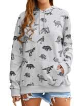 Women Cute Dinosaur Graphic Prime Tees Ladies Bestie Fun Shirt Blouse Tops