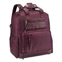 JJ Cole - Papago Pack Diaper Bag, Gender Neutral Large Capacity Backpack with Stroller Clips, Changing Pad, and Multiple Pockets for Baby Supplies, Eggplant