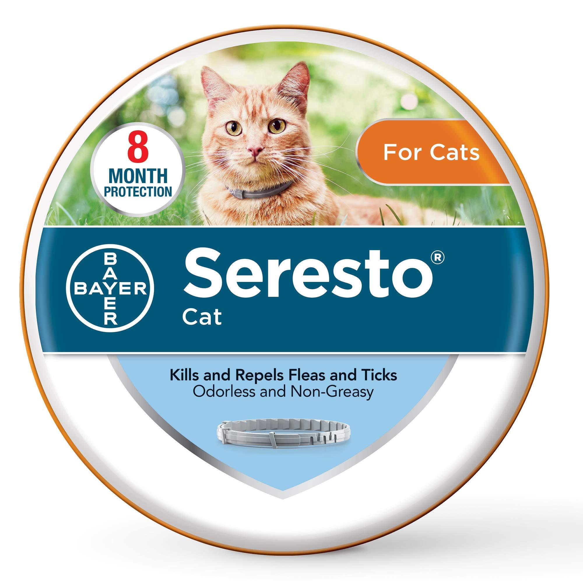 Seresto Flea and Tick Prevention for Cats, 8-Month Flea Collar for Cats