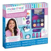 Make It Real – Girl-on-The-Go Cosmetic Set - All in One Starter Makeup Kit for Girls and Tweens - Includes Lip Gloss Tubes, Eyeshadow Palette, Makeup Brushes, Nail Polish, and More!