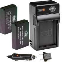 BM Premium 2-Pack of LP-E12 Batteries and Charger Kit for Canon SX70 HS, Rebel SL1, EOS-M, EOS M2, EOS M10, EOS M50, EOS M100, EOS M200 Mirrorless Digital Cameras