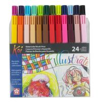 Sakura XBR-24SA 24-Piece Koi Assorted Coloring Brush Pen Set