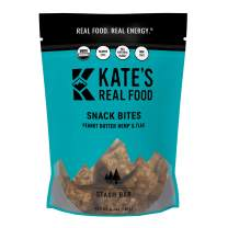 Kate's Real Food Granola Bites 2 Pack   Stash Bar Peanut Butter Hemp and Flax   Clean Energy, Organic Ingredients, Gluten Free, Non GMO   All Natural Delicious Health Snack