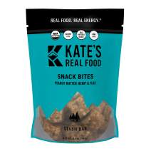 Kate's Real Food Granola Bites 2 Pack | Stash Bar Peanut Butter Hemp and Flax | Clean Energy, Organic Ingredients, Gluten Free, Non GMO | All Natural Delicious Health Snack