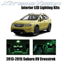 Xtremevision Interior LED for Subaru XV Crosstrek 2013-2015 (6 Pieces) Green Interior LED Kit + Installation Tool