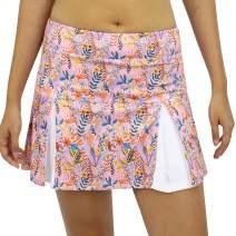 SAVALINO Women's Tennis Skirt with Under Shorts and Ball Pockets, Sport Skort Material Wicks Sweat & Dries Fast, Size XS-XL