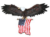 COMLZD Freedom's Pride Bald Eagle Sculpture Patriotic American Eagle Statue Office Home Décor and Figurine Gift (31 Inch Eagle Wall Sculpture)…