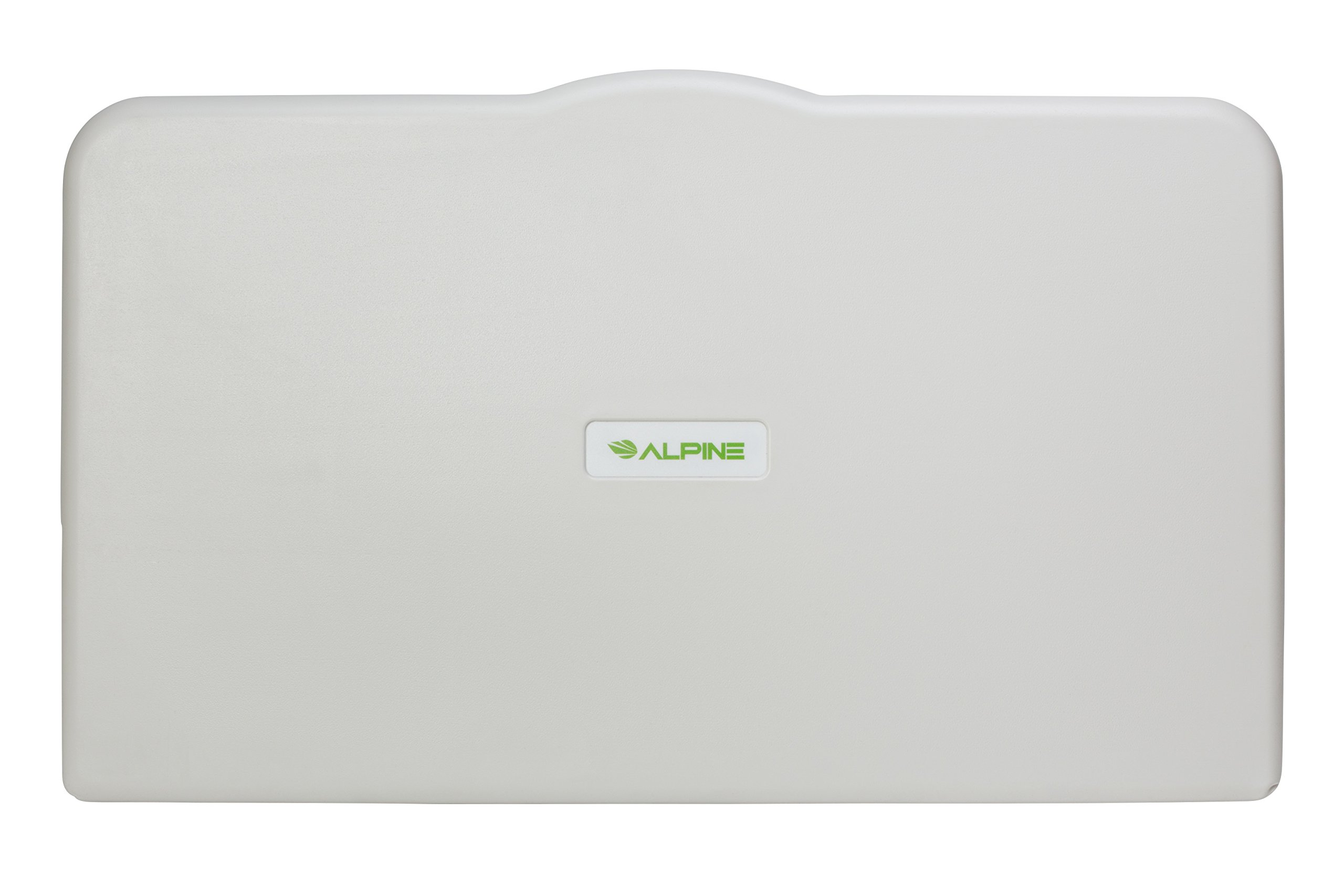 Alpine Industries Fold Down Baby Changing Diaper Station - Horizontal Wall Mounted, Supports up to 220 Lbs. - Safety Straps to Keep Baby Secured - Ideal for Commercial Restrooms (White Granite)
