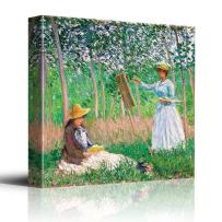 wall26 - in The Woods at Giverny by Claude Monet - Impressionist Modern Art - Canvas Art Home Decor - 12x12 inches