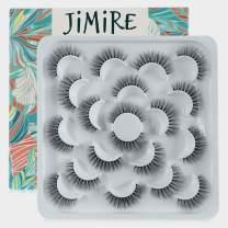 JIMIRE 10 Pairs False Eyelashes Fluffy Volume Eyelashes Dramatic Reusable False Lashes