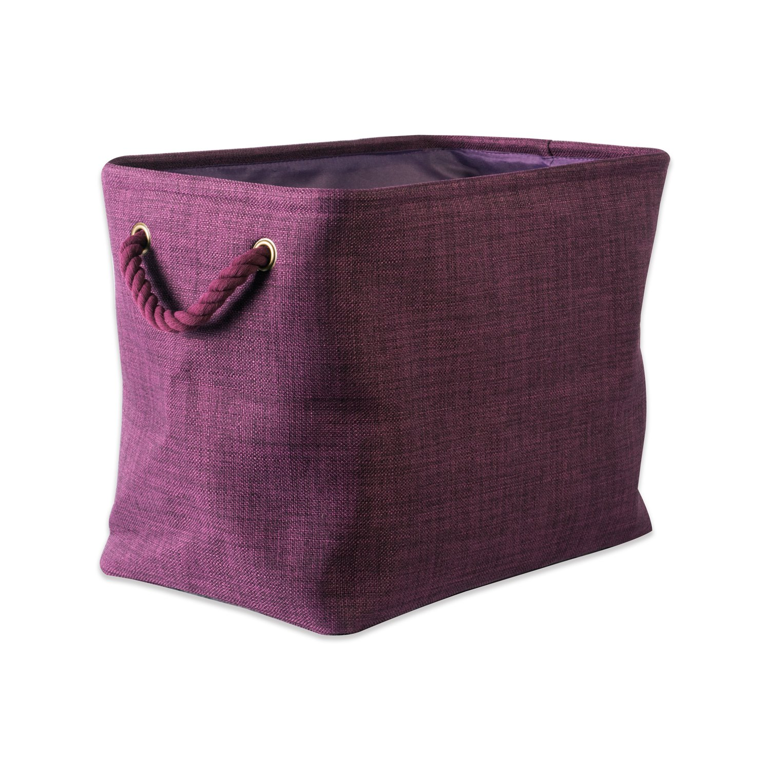 DII CAMZ37089  5568 Collapsible Variegated Polyester Storage Bin, Medium, Eggplant