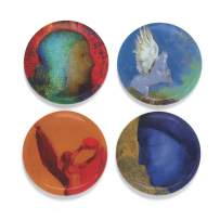 """Buttonsmith Odilon Magnet Set - Set of 4 1.25"""" Magnets - Made in the USA"""