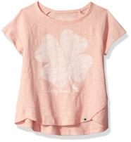 Lucky Brand Girls' Riley Laurel Canyon Tee with Criss Cross Back