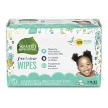 Seventh Generation, Baby Wipes, Unscented and Sensitive, 128 count