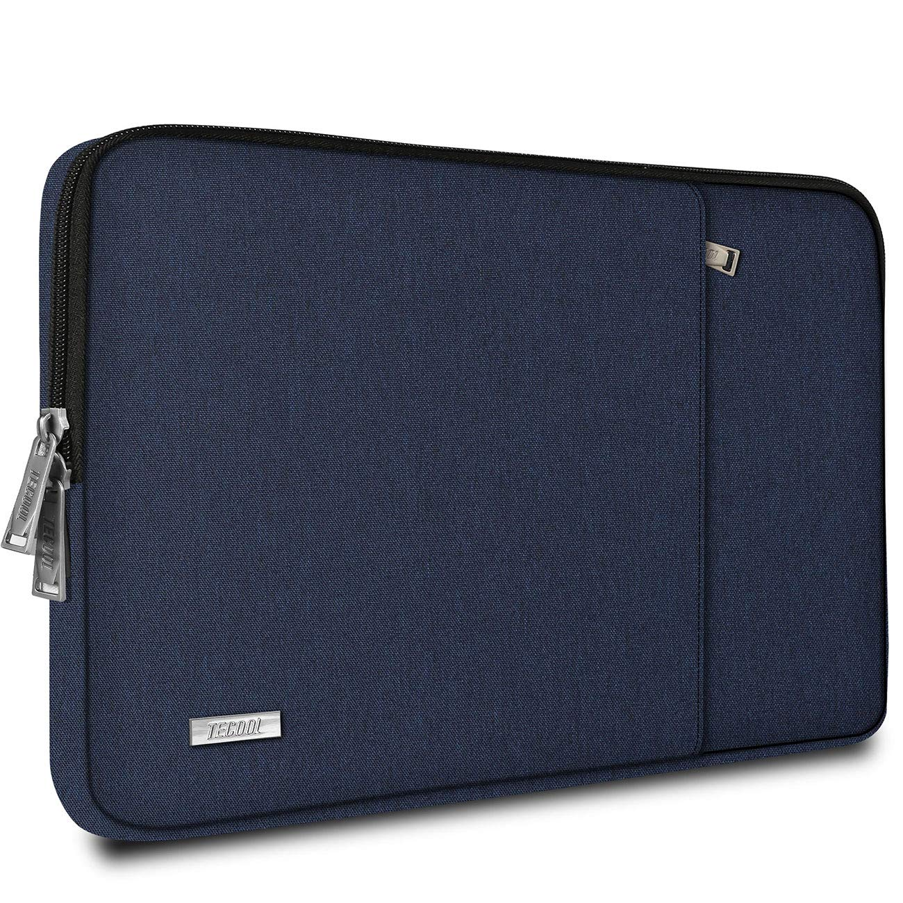 """TECOOL 13.3-13.5 Inch Laptop Sleeve Protective Case Cover with Front Pocket for 13.5"""" Surface Laptop 3/2, MacBook Air/Pro 13, 13.3""""-14"""" Ultrabook Chromebook Computer Bag Water Repellent, Dark Blue"""